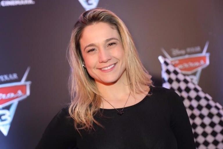 Fernanda Gentil na pré-estreia dFernanda Gentil estará, temporariamente, no sofá do 'Saia Justa' do GNTe 'Carros 3'