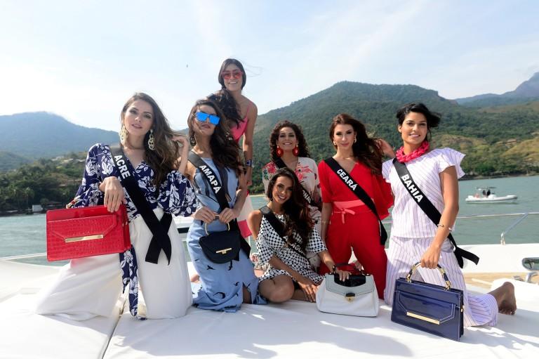 Em dia de disputa, candidatas a Miss Brasil cuidam da beleza