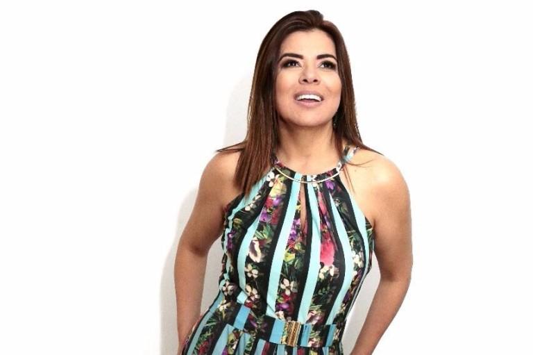 A apresentadora Mara Maravilha