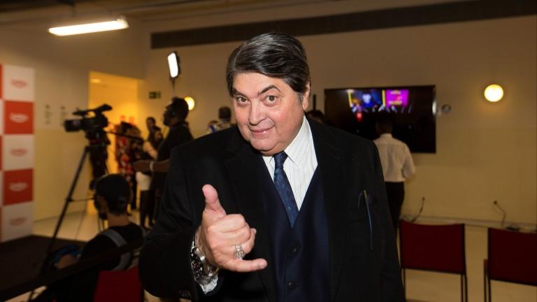 O apresentador José Luiz Datena durante prêmio de humor no Auditório Ibirapuera, em São Paulo