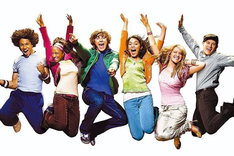 O elenco de 'High School Musical', sucesso do Disney Channel lançado em 2006