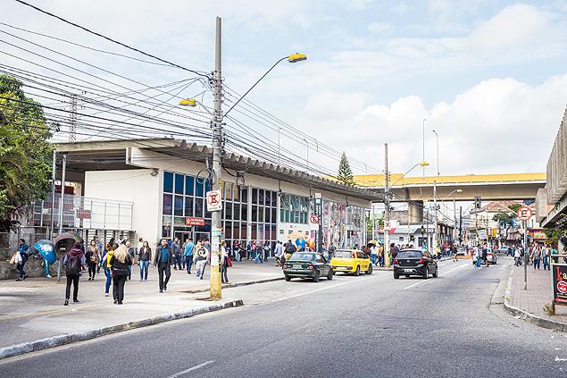 Estação Prefeito Celso Daniel, antiga Estação Ferroviária de São Bernardo, inaugurada em 1867, em Santo André