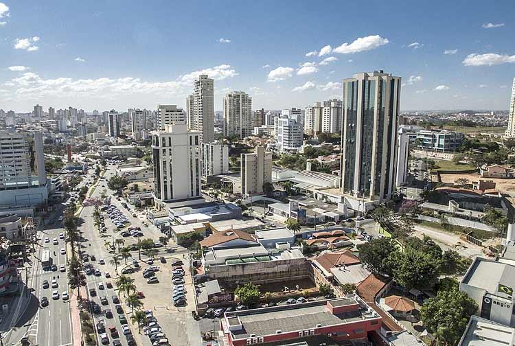 Vista aérea do bairro Jardim Portal da Colina, em Sorocaba, onde está sendo construído o empreendimento Notting Hill, da construtora CRB