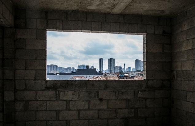 Vista do alto do Vita Bom Retiro, empreendimento da Vitacon em construção